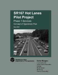 SR 167 HOT Lanes Pilot Project Phase 1 Concept of Operations Plan