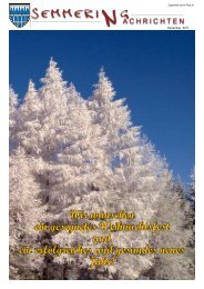 Gemeindezeitung Dezember 2011 (3,86 MB) - Semmering