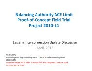 Balancing Authority ACE Limit Proof-of-Concept Field Trial Project ...