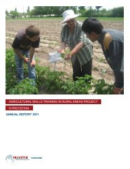 annual report 2011 agricultural skills training in rural ... - Helvetas