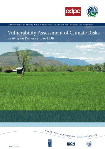 Project: Vulnerability Assessment on Climate Change and ...