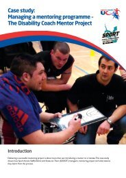 Case study: Managing a mentoring programme ... - sports coach UK