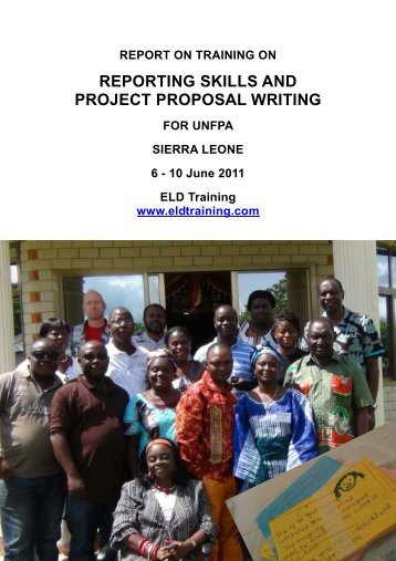 Reporting Skills and Project Proposal Writing - ELD Training