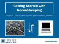 Competence Development Record Keeping Tutorial - Ipenz