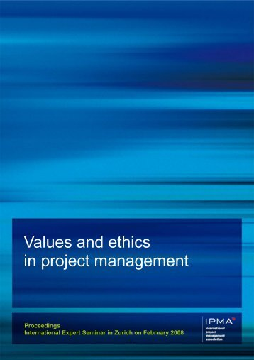 Values and ethics in project management - Sumbiosis