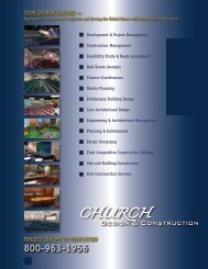 PROJECT CONCEPT TO COMPLETION YOUR CHURCH ...