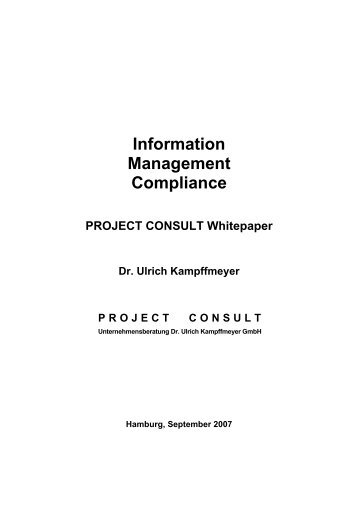 Information Management Compliance - Project Consult ...