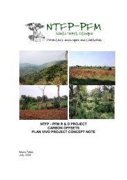 NTFP - PFM R & D PROJECT CARBON OFFSETS PLAN VIVO ...