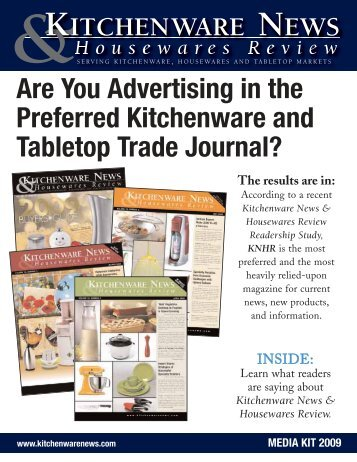 Serving kitchenware housewares and tabletop - Kitchenware News ...