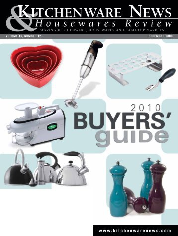 Kitchenware News Decemer 2009 - Oser Communications Group