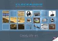 Product Catalogue - Clock Audio