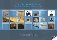 Product Catalogue - Clock Audio