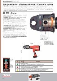RP 330 - Serie Zeit gewinnen - effizient arbeiten ... - Reiter Werkzeuge