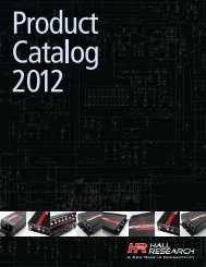 Hall Research Product Catalog 2012 www .hallresearch ... - prodyTel