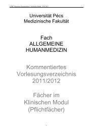 Kommentiertes Vorlesungsverzeichnis 2011/2012 Fächer im ...