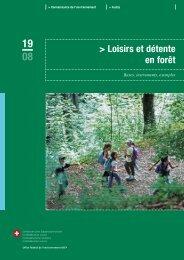 Loisirs et détente en forêt