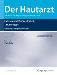 Elektronischer Sonderdruck für Zellulitis T.M. Proebstle - P-Lounge