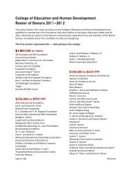 Roster of Donors 2011-2012 (pdf) - College of Education & Human ...
