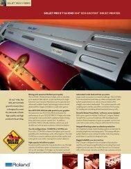 """SOLJET Pro II V SJ-1045 104"""" eco-SOLVENT™ INKJET PRINTER"""