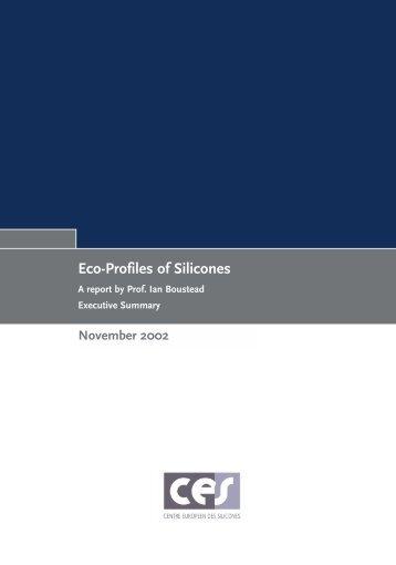 Eco-Profiles of Silicones - Silicones Science