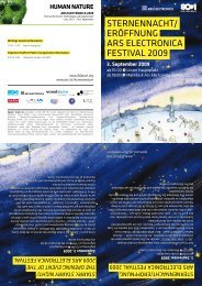 STernennachT/ eröFFnunG arS eLecTronica FeSTivaL ... - Linz 2009