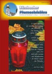 Informationen der Pfarre Bärnbach Nr. 422/Jg. 22 November ...
