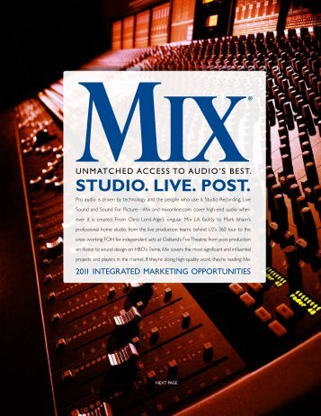Mix Media Kit - Mix Magazine