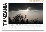Off-the-beaten trek East African luxury. - Urbane Nomads