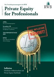 Private Equity for Professionals - RWB AG