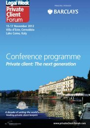 Conference programme - Legal Week Private Client Forum 2012