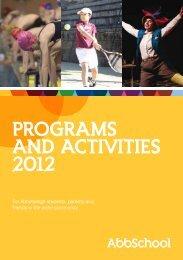 programs and activities 2012 - Abbotsleigh