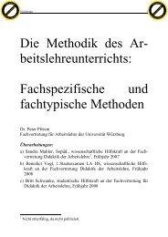 Fachspezifische und fachtypische Methoden - Fachvertretung für ...