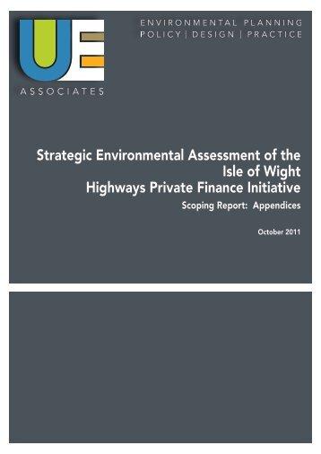 IoW PFI Strategic Environmental Assessment Scoping Report