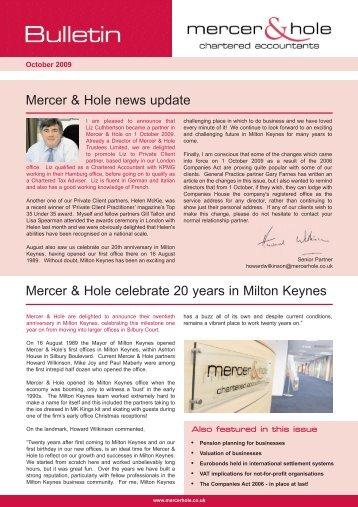 Bulletin Autumn 2009v1.qxd - Chartered Accountants - Mercer ...