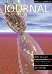OF THE LAW SOCIETY OF SCOTLAND - The Journal Online