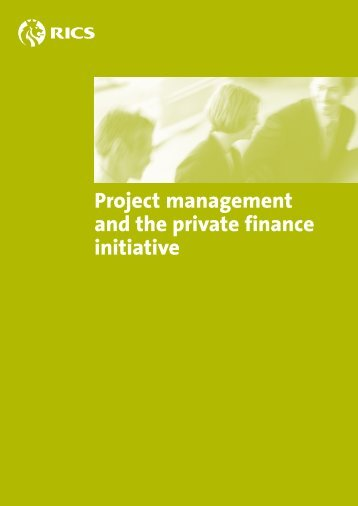 Project management and the private finance initiative