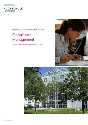 Compliance Management - Weiterbildung - Hochschule Luzern