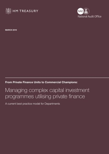 Managing complex capital investment programmes ... - HM Treasury