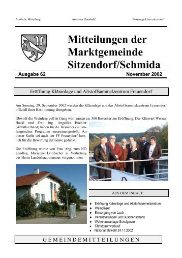 Wahlkarten - Sitzendorf an der Schmida