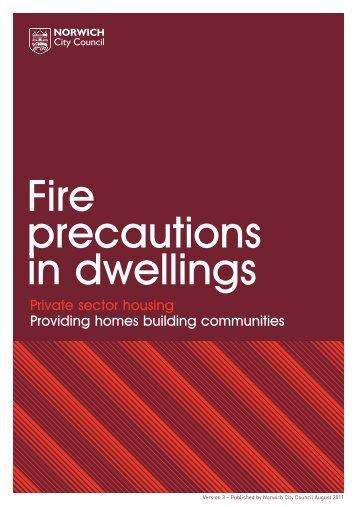 Fire precautions in dwellings - Norwich City Council