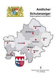 Schulanzeiger Januar 2013 - Regierung von Unterfranken - Bayern