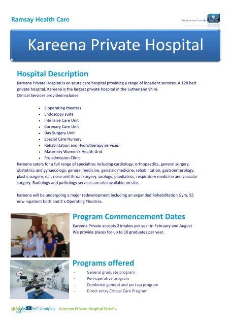 Kareena Private Hospital - Gradplus