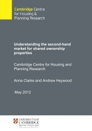 Understanding the second-hand market for shared ownership ...