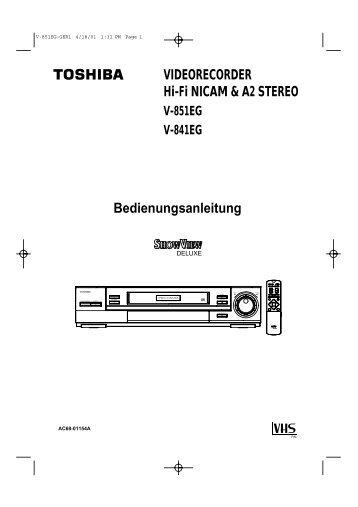 VIDEORECORDER Hi-Fi NICAM & A2 STEREO V-851EG V-841EG