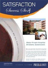 Mater Private Hospital Brisbane, Queensland - Press Ganey Australia