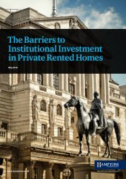 The Barriers to Institutional Investment in Private Rented Homes