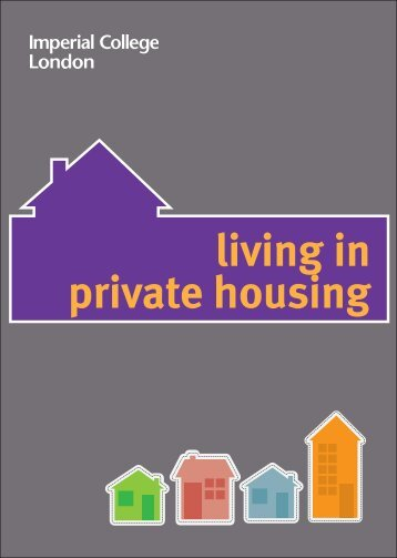 living in private housing - Workspace - Imperial College London