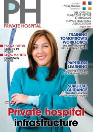 August 2012 - Australian Private Hospitals Association