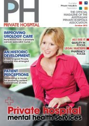 October 2012 - Australian Private Hospitals Association