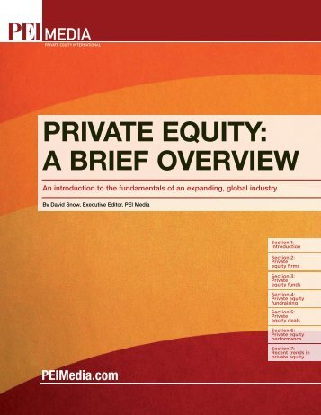 PRIVATE EQUITY: A BRIEF OVERVIEW - PEI Media